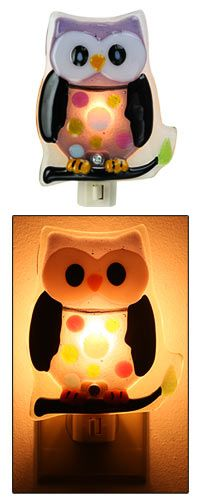 Hoo's Bedtime Owl Night Light at The Animal Rescue Site  perfect for a childs room $12.95