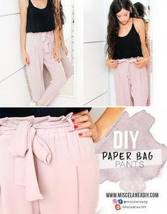 diy fashion tutorial that fabulous Diy Clothing, Sewing Clothes, Clothing Patterns, Sewing Patterns, Clothes Refashion, Diy Paper Bag, Diy Fashion Projects, Diy Projects, Fashion Ideas