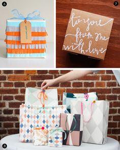 Roundup: 30+ Inspiring and Festive DIY Gift Wrap Ideas