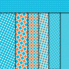 free printable scrapbook paper - blue brights