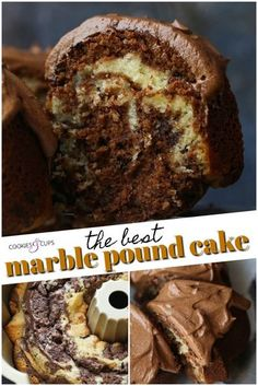 This Marble Pound Cake is ultra moist with the perfect ribbons of chocolate and vanilla cake swirled together. I added mini chocolate chips to this easy cake recipe and topped it with creamy chocolate frosting to make it extra delicious! Marble Bundt Cake Recipe, Marble Pound Cakes, Marble Cake Recipes, Pound Cake Recipes, Easy Cake Recipes, Baking Recipes, Moist Pound Cakes, Best Pound Cake Recipe Ever, Vanilla Pound Cake Recipe