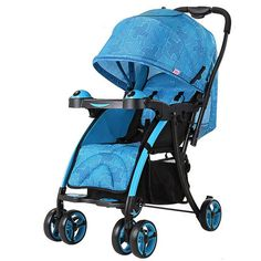 Baby Strollers Portable Folding Travel Prams Children Printed Umbrella Two-way Lightweight Carriage Can Sit Lie Pushchair Cart