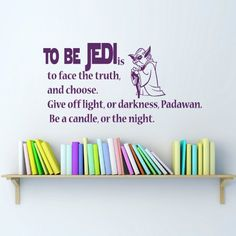 Wall Decals Star Wars Quote to be jedi is to face the truth Children Nursery Room Bedroom Office Window Dorm Vinyl Sticker Wall Decor Murals Wall Decal: Amazon.co.uk: Kitchen & Home