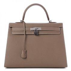 61b362410e39 Kelly 35 Bag Etoupe Hermes Epsom Sellier Birkin Bag Hermes Kelly Taschen