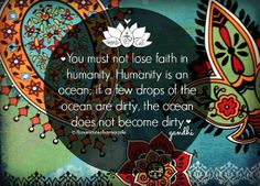 Gandhi - ocean  #quote #wisdom
