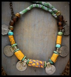 Afro-Indian fusion statement necklace by tribal Chokerbali