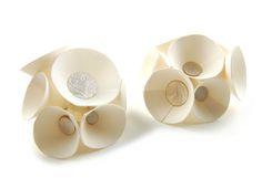 Rebecca Hannon Earrings, Porcelain, Silver.