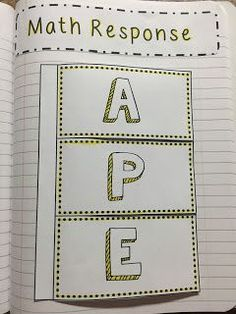 """Use the """"APE"""" strategy to teach your students how to write about math! This constructive response strategy helps students break down their math thinking and explain their work after solving a problem. Math Teacher, Math Classroom, Teaching Math, Teaching Numbers, Classroom Design, Classroom Organization, Classroom Management, Teaching Ideas, Classroom Ideas"""