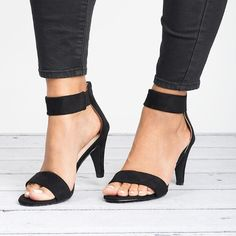 Ankle Strap Sandals - Black