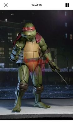 Leonardo Teenage Mutant Ninja Turtles 1990 Movie TMNT 1//4 45 cm figurine Neca