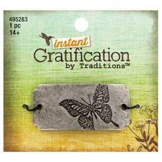 Instant Gratification Burnished Silver Butterfly Focal Pendant - $2.99 ~ Hobby Lobby