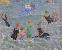 Bagnanti nell'acqua, 1919