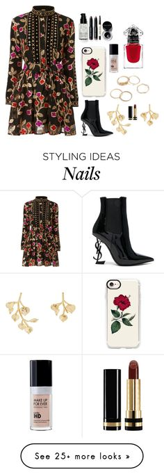 """Do what I want"" by dark-jewel on Polyvore featuring Yves Saint Laurent, Kenneth Jay Lane, Casetify, Bobbi Brown Cosmetics and Gucci"