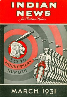 Riding Vintage article on Indian Motorcycle illustrations and advertisements.