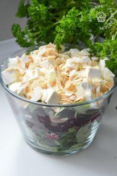 2 garści migdałów w płatkach – ok The Cheesecake Factory, Good Healthy Recipes, Healthy Salads, Vegan Runner, Vegan Gains, Kale Caesar Salad, Ramen, Salad Dishes, Baked Chicken Recipes