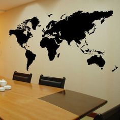 World Map Wall Decal Wall Sticker