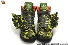 Discount Adidas X Jeremy Scott Wings Dark Camo Shoes Shoes Store