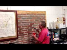 How to Stain Brick. People stain brick for many reasons: to make repairs match the rest of the wall, to complement surrounding decor, or just to create a great color change. Unlike paint, stain will seep into and bond with the brick,. Stain Brick, Brick Walls, Fireplace Mortar, Fireplace Ideas, Paint Font, Paint Stain, Stained Brick Exterior, Types Of Bricks, Tips