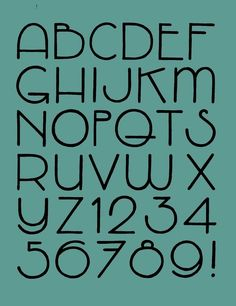 Alphabet retro art deco calligraphy fonts, typography fonts, number c Types Of Lettering, Lettering Styles, Brush Lettering, Doodle Lettering, Hand Lettering Alphabet, Typography Letters, Typography Design, Fun Fonts Alphabet, Art Deco Typography