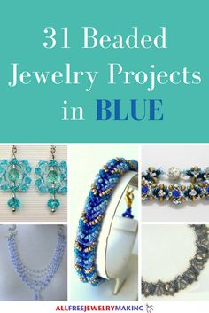 Beautiful Beading Patterns: 31 DIY Jewelry Projects in Blue | Time for all you blue jewelry lovers to fall in love with some more DIY jewelry projects! Whether you love beading or have never tried it you are guaranteed to love these projects!