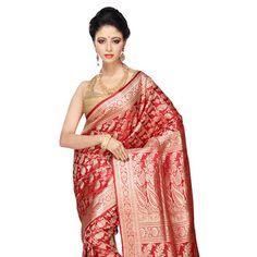 #Red #Banarasi Silk #Saree Silk Sarees Online, Blouse Online, Sari, Pure Products, Red, Collection, Shopping, Fashion, Saree