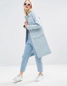 Premium - Imperméable en jean enduit