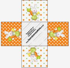 Easter in Orange: Free Printable Boxes.