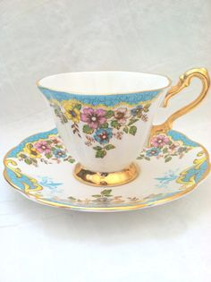 Antique English Footed Rosina Exquisite Tea Cup by MariasFarmhouse