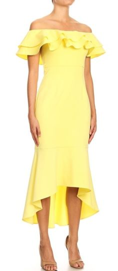 Sunrise In California – OWN YOUR ELEGANCE Mermaid Silhouette, Dress Silhouette, Summer Events, Yellow Fabric, Effortless Chic, Hello Gorgeous, Every Woman, Hemline, Sunrise
