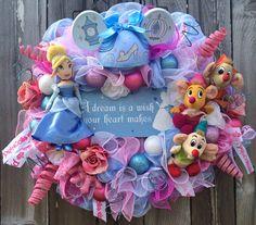 Cinderella Party, Cinderella Decor, Cinderella Wreath, Princess Wreath, Princess Decor, Little Girl Wishes on Etsy, $155.00