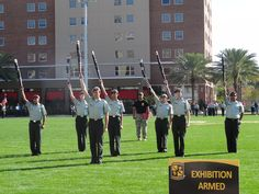 The Riverview High School JROTC participates in a drill competition sponsored by the University of Tampa Army ROTC program at the University of Tampa. #AdobeEduSweeps