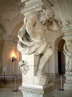 Lorenzo Mattielli - horní Belveder ve Vídni, Atlas
