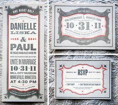 Love these invites. Also...this wedding is happening in 20 minutes.