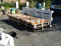 Pallet sofa almost done