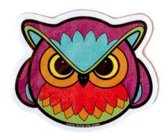 Angry Owl Vinyl Sticker. $1.25, via Etsy.