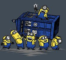 The Minions Have The Phone Box by Onebluebird<< ITS A POOOLLLIIICCCCEEE BOOOOXXXX