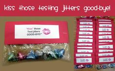 testing treats 01 Student Treats, School Treats, School Gifts, Student Gifts, Classroom Treats, School Classroom, Beginning Of The School Year, First Day Of School, First Day Jitters