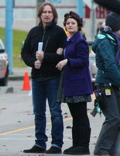 Rumbelle AU: Rumple and Belle go outside on Sunday morning to get the paper and walk the dog.