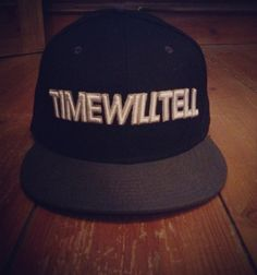 Signature snapback from the UK's Time Will Tell label in white on black. £19.99
