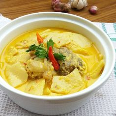 Veggie Recipes, Cooking Recipes, Chocolate Pudding Cake, Malay Food, Indonesian Food, Thai Red Curry, Recipies, Food And Drink, Veggies