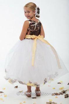 a9b97e70d67 Camo Flower Girl Dresses for Weddings  weddingflowers When I Get Married