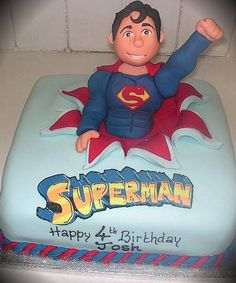 My brother in law would love this! superman cake from richardcakes.co.uk