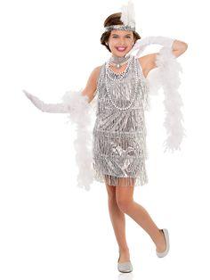 Girls Dazzling Flapper Costume | 20s Costumes