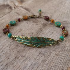 Autumn Jewelry - Leaf Necklace - Long Statement Necklace - Boho Necklace - Orange and Turquoise Necklace - Beaded Necklace - Fall Leaf 2017 14k Gold Initial Necklace, Diamond Solitaire Necklace, Leaf Necklace, Boho Necklace, Turquoise Necklace, Diamond Studs, Sapphire Rings, Diamond Necklaces, Leaf Jewelry