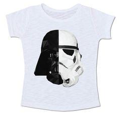 star wars preto e branco meio a meio darth vader stormtrooper guerra nas estrelas camiseta pb