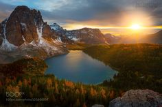 The Other Side Of Mt Assiniboine by kevinmcneal