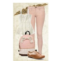 """vintage back to school"" by victoria-publicover on Polyvore"