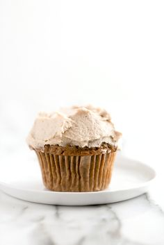 High Rise Pumpkin Cupcakes from Oh She Glows Every Day & A Giveaway! - Blissful Basil