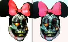 minnie mouse zombie by Artsie-Fartsie-Painr on DeviantArt Vampires And Werewolves, Mickey Mouse Ears, Creature Design, Werewolf, Body Art, Birthday Parties, Costume Ideas, Costumes, Creatures