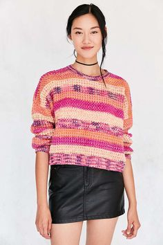 EC NEON SPACE DYE PULLOVE - Urban Outfitters